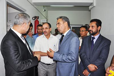 زيارة وزير العدل لمجمع المحاكم 2