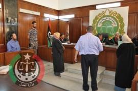 محاكمة المتهم الساعدي القذافي